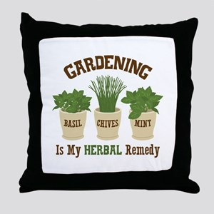 GARDENING IS MY HERBAL Remedy Throw Pillow