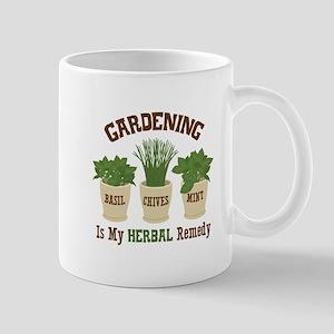 GARDENING IS MY HERBAL Remedy Mugs