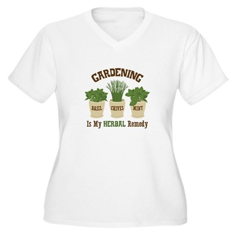 GARDENING IS MY HERBAL Remedy Plus Size T-Shirt