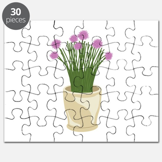 Potted Chive Plant Puzzle