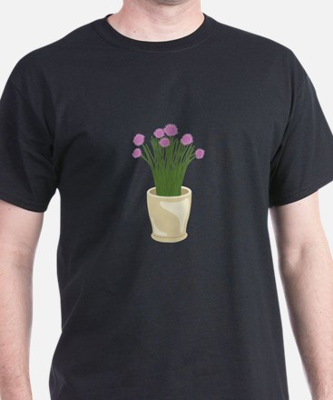 Potted Chive Plant T-Shirt