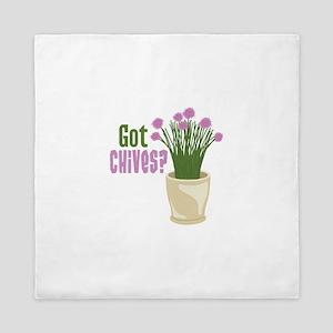 Got Chives? Queen Duvet