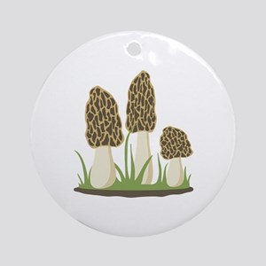 Morel Mushrooms Ornament (Round)