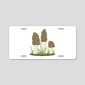 Morel Mushrooms Aluminum License Plate