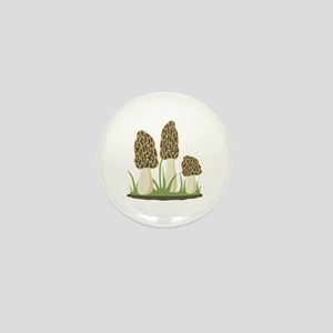 Morel Mushrooms Mini Button