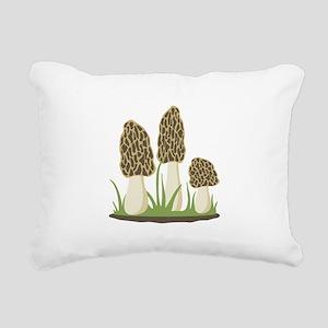 Morel Mushrooms Rectangular Canvas Pillow