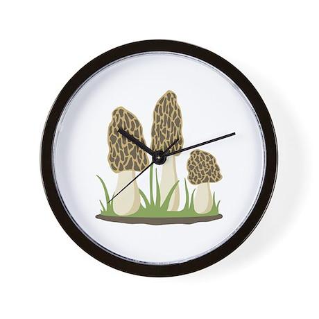 Morel Mushrooms Wall Clock