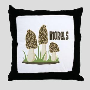 MORELS Throw Pillow