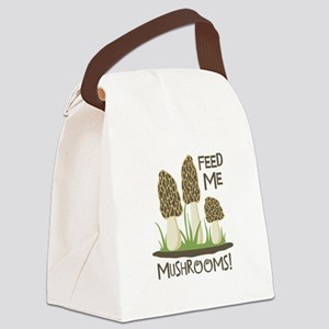 FEED ME MUSHROOMS! Canvas Lunch Bag