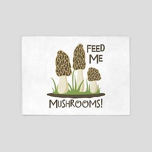 FEED ME MUSHROOMS! 5'x7'Area Rug