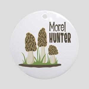Morel Hunter Ornament (Round)