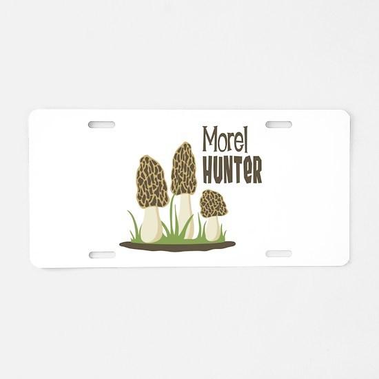 Morel Hunter Aluminum License Plate