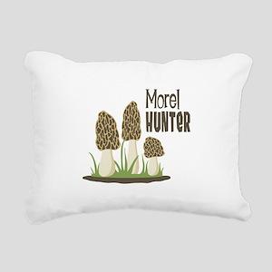 Morel Hunter Rectangular Canvas Pillow