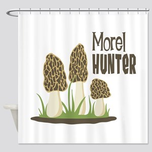 Morel Hunter Shower Curtain
