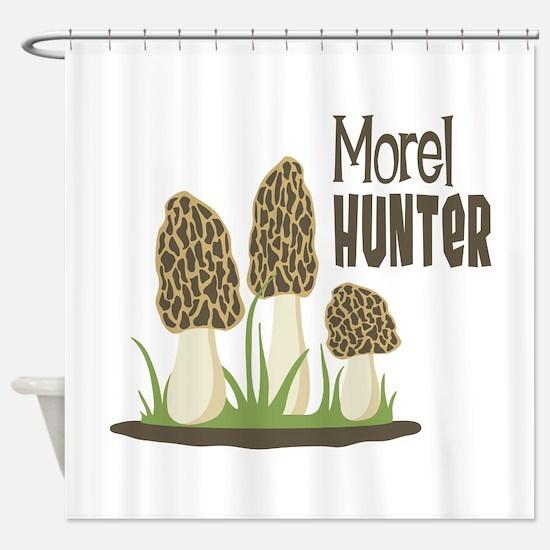Morel Hunter Shower Curtain