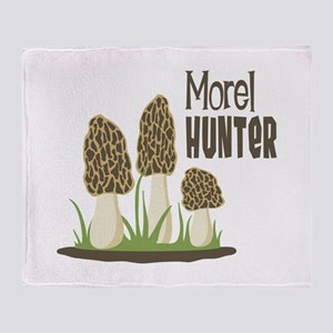 Morel Hunter Throw Blanket