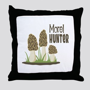 Morel Hunter Throw Pillow