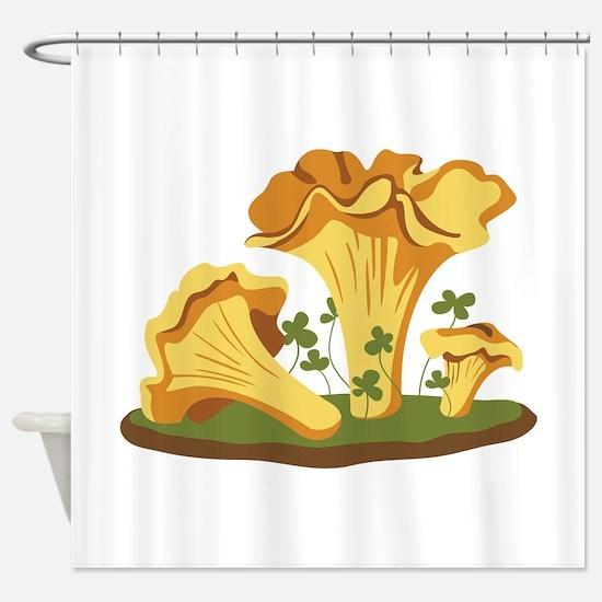 Chanterelle Mushrooms Shower Curtain