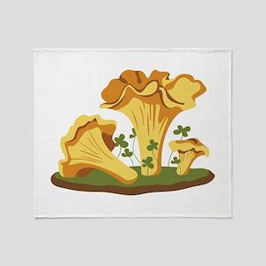 Chanterelle Mushrooms Throw Blanket