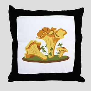Chanterelle Mushrooms Throw Pillow