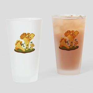 Chanterelle Mushrooms Drinking Glass