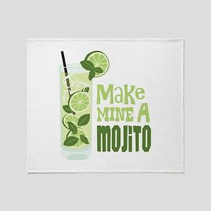 Make MINE A Mojito Throw Blanket
