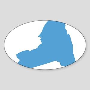 Need York Stat Shape Sticker (Oval)