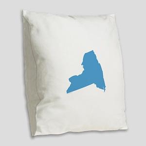 Need York Stat Shape Burlap Throw Pillow