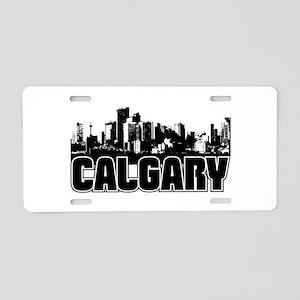 Calgary Skyline Aluminum License Plate