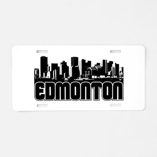 Edmonton Skyline Aluminum License Plate
