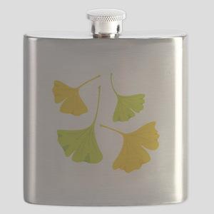 Ginkgo Leaves Art Nouveau Flask