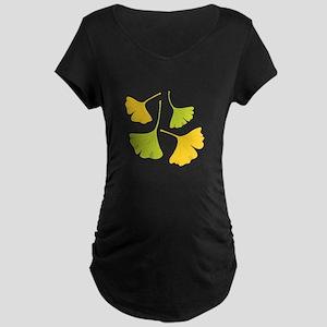 Ginkgo Leaves Art Nouveau Maternity T-Shirt