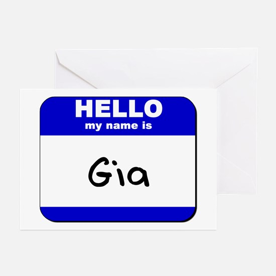 hello my name is gia  Greeting Cards (Pk of 10