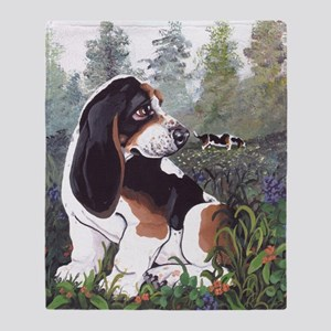 Basset Hound Pd Throw Blanket