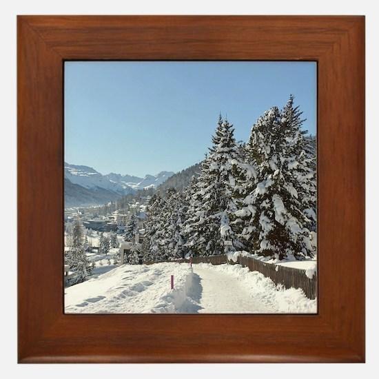 Winter in St. Moritz Framed Tile