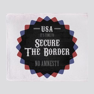 Secure The Border Throw Blanket