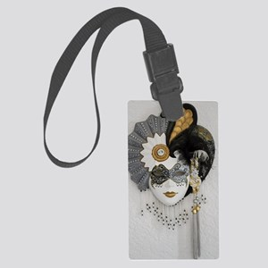 CarnivalMask006 Large Luggage Tag