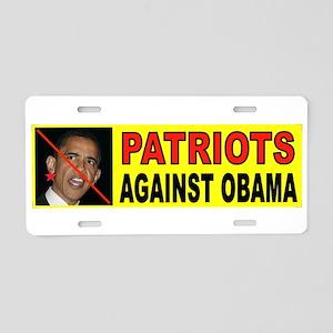 PATRIOTS Aluminum License Plate