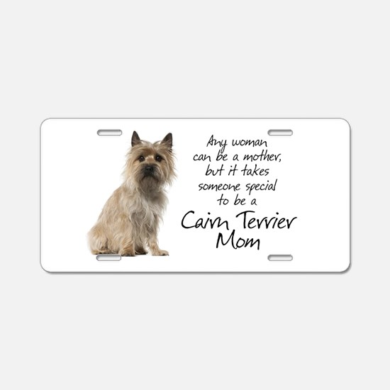Cairn Terrier Mom Aluminum License Plate