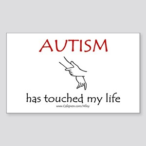 Autism Touch Rectangle Sticker
