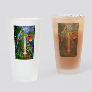 MACAW TROPICAL PARROTS Drinking Glass