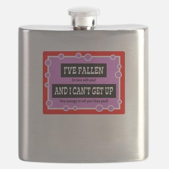 Ive Fallen/romantic t-shirt Flask