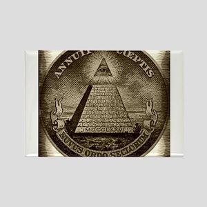Illuminati Brown Square Magnets