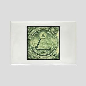 Illuminati Green Square Magnets