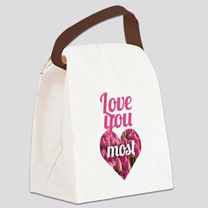 Love You Most Canvas Lunch Bag