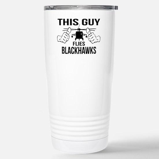 This Guys Flies Blackha Stainless Steel Travel Mug