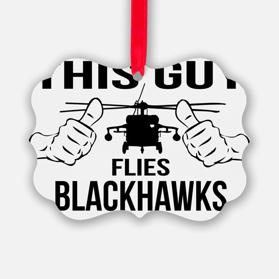 This Guys Flies Blackhawks Ornament