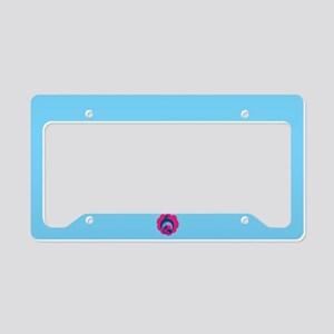 Cute Dolphin Love License Plate Holder