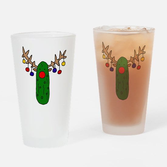 Cute Christmas funny Drinking Glass