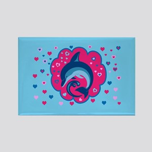 Cute Dolphin Love Magnets
